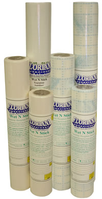 Floriani Wet N Stick Tearaway Stabilizer Rolls