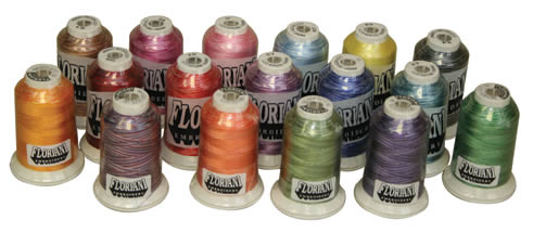 Floriani Variegated 1000M Rayon Embroidery Thread