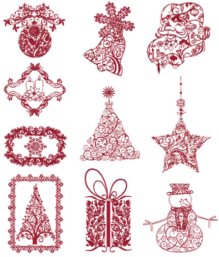 Floriani Victorian Christmas Embroidery Designs