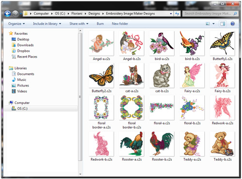 Floriani Embroidery Image Maker