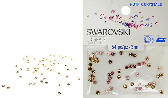 Swarovski Hotfix Crystals – Light Colorado Topaz