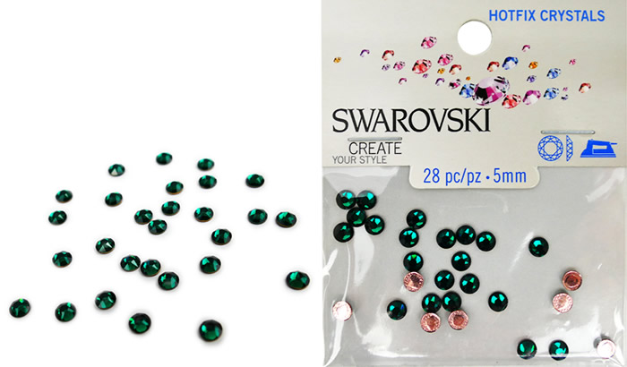 Swarovski Hotfix Crystals – Emerald